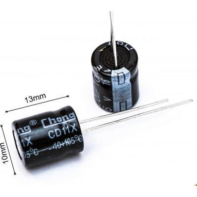 Конденсатор 1000мкф 16в 105С    10х13 мм