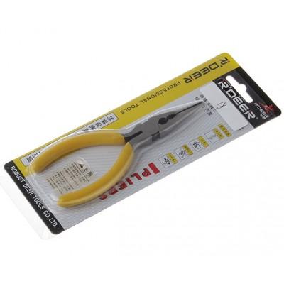 Довгогубці прямі R'Deer RT-501, жовті 125mm