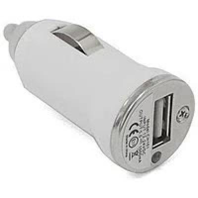 Автомобільна зарядка USB 1A (біла)