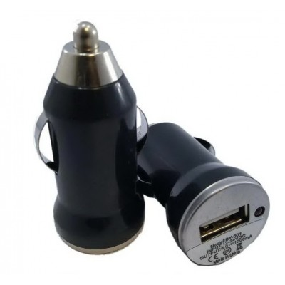 Автомобільна зарядка USB 1A (чорна)