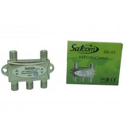 Дісек DiSEqC (1.0) SATCOM SD-42 ( 4х1 )