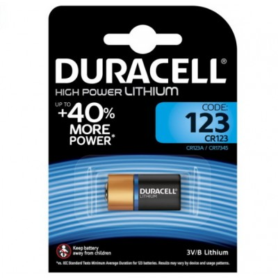 Батарейка CR123 DURACELL ULTRA 1x2