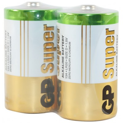 Батарейка LR20 (D) GP SUPER ALKALINE 1x2