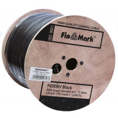 Кабель ТВ F690BV  FINMARK (305m) чорний