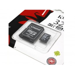 Картка пам'яті 32GB Kingston micro SDXC 32GB Class 10+ adaptor