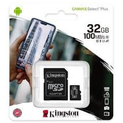 Картка пам'яті 32GB Kingston micro SDXC  Class 10