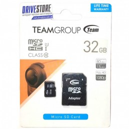 Картка пам'яті 32GB TEAM micro SDHC  Class 10 + adaptor