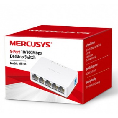 Комутатор 5-портовий MERCUSYS MS105 10/100Mbps