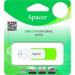 Флешка 64GB USB2.0 APACER AH335 Green