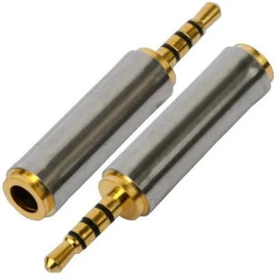 Перехідник штекер 3.5 мм 4x - гніздо 2.5 мм gold метал