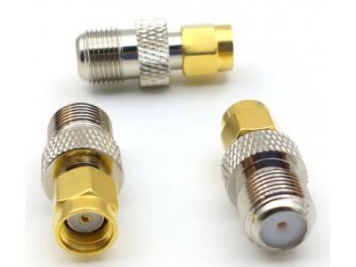 Перехідник штекер RP-SMA plug - гніздо F (латунь)