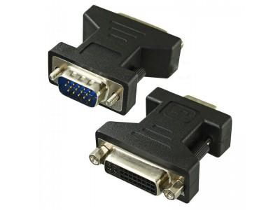 Перехідник штекер VGA - гніздо DVI (24+5)