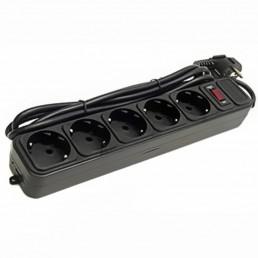 Фільтр мережевий 3м 5р. Maxxter SPM5-G-10B (чорний)