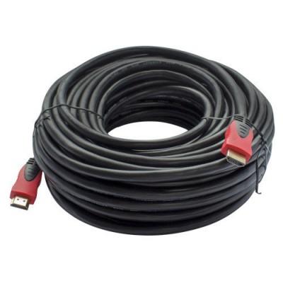 Кабель HDMI - HDMI GOLD V-1,4 діам червоний  20м