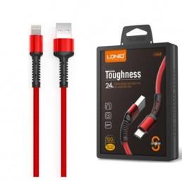 Шнур miсro USB 1м , LS63V8 червоний