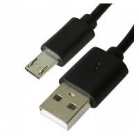 Кабель micro USB чорний 12мм 1 метр