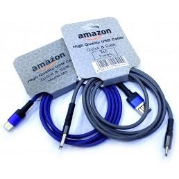 Шнур type-C 2.0 Amazon M5 сітка кольорові