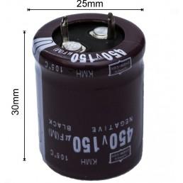 Конденсатор 150мкф*450в*105С /(25*30)  KMH