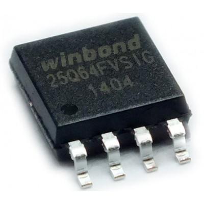 W25Q64FVS    SPI 64MBIT 8SOIC