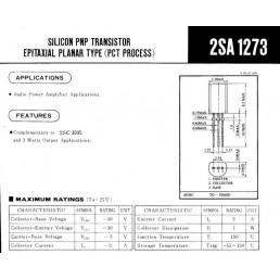 Транзистор 2SA1273 (30V*2A*1W) (TO-92) P-N-P