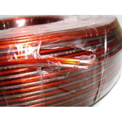 Кабель акустичний 2х0.50 прозорий мідний
