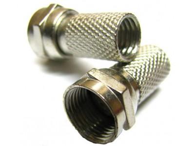 Штекер F для кабеля  # 6.5х20 цинк