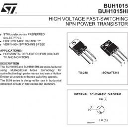 Транзистор BUH1015HI (1500V*14A*70W) (TO-218) n-p-n