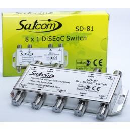 Дісек DiSEqC (1.1)  Satcom SD-81A ( 1x8)
