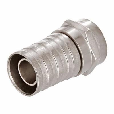 Штекер F для кабеля RG-6, обжимний , цинк