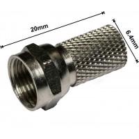 Штекер F для кабеля #6 /20мм. TRILINK (Латунь)