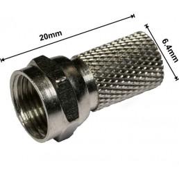 Штекер F для кабеля  # 6.5х19.5 Trilink латунь