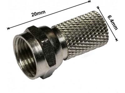 Купити Штекер F для кабеля #6 /20мм. TRILINK (Латунь) Рівне