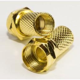 Штекер F для кабеля  #6 /18мм. Gold