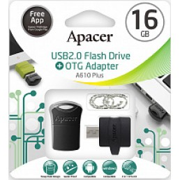 Флешка 16GB USB2.0 APACER AH116 white