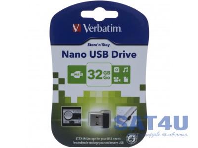 Флешка 32GB USB2.0 VERBATIM STORENGO NANO