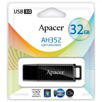 Флешка 16GB USB3.0 APACER AH352 black