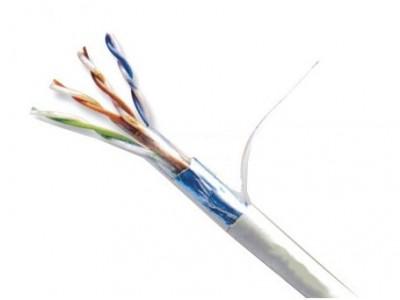 Вита пара FTP Сat.5e KW-Link 4x2x0.51CCA 6.3мм сірий 305м