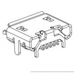 Гніздо Micro USB B 7.2 HORN 4 FEET DIP 5pin