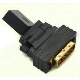 Перехідник гн.HDMI/шт.DVI (поворотний)