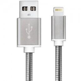 Шнур шт.USB А -шт.IPHONE 5, діам.-4,5мм, 1м, білий