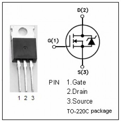 IRFZ44N || MOSFET N-channel TO-220