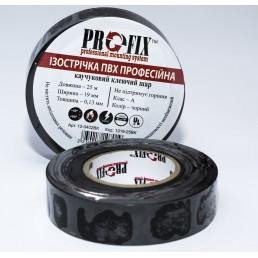 Ізострічка  ProFix 0,13мм.х19мм. чорна 25м.