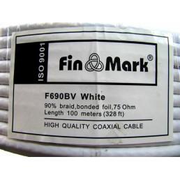 Кабель ТВ F690  FINMARK (100m) білий