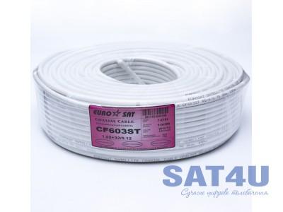 Кабель ТВ RG-6+32/6.8  EUROSAT (100m) білий
