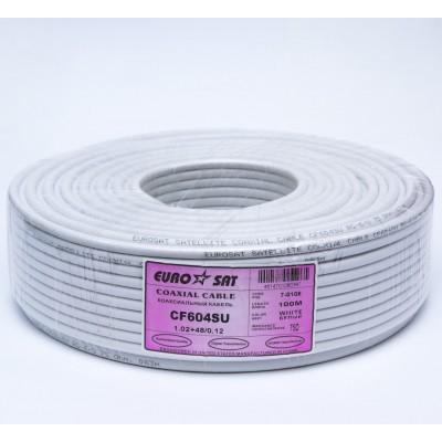 Телевізійний кабель RG-6+48/6.8 (Мідь)  EUROSAT білий