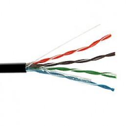 Вита пара FTP Сat.5e KW-Link 4x2x(0,51CCA), діам.-6,3мм, зовнішній чорний, 305м