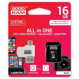 Картка пам'яті 16GB GoodRam micro SDHC  Class 10+ adaptor