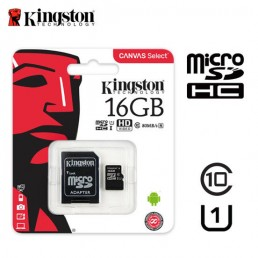 Картка пам'яті 16GB Kingston micro SDXC  Class 10 +adapter
