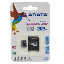 Картка пам'яті 32GB ADATA Premier micro USH1  Class 10 + adaptor