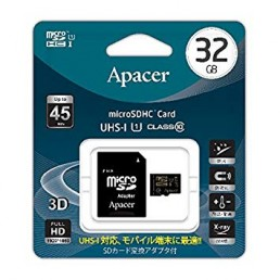 Картка пам'яті 32GB APACER micro SDHC Class 10+ adaptor